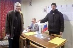 polling for russia for the first time from naggar