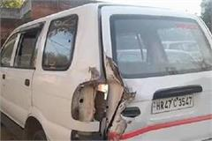 overloaded vehicle hit sho car