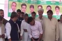 feeding of poor people by donating blood on the birthday of ajay chautala