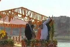 modi mcren yogi who was enjoying naka bihar in kashi also included