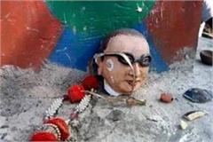 naughty elements broke new statue of ambedkar