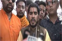 the vhp activists told the pm modi to build a ram temple
