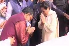 sp leader ram govind chodary meet bsp mayawati