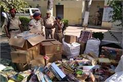 large number of firecrackers recovered from residential areas