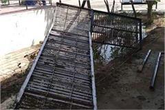 sdm shaheed bhagat singh stairs fell down breaks