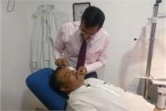 punjab vidhan sabha session vijay sampla eye injured