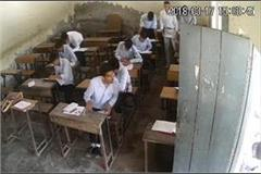 collective cheating of 12th exam live photos in cctv