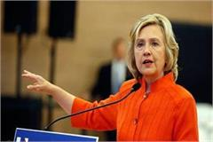former secretary of state hillary clinton said america s democracy is in danger