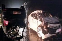 two cars collide on chandigarh manali forelane painful death of one