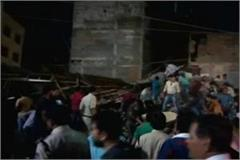 multi storey hotel falls in indore 9 people die in road accident