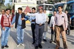 transport minister inspected the mandi bus stand