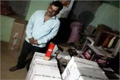 one arrested with 52 boxes of liquor and beer