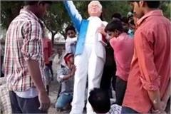 ambedkar statue break in ballia