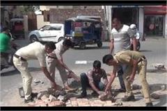 when kaithal policemen began to fill the sewerage pit
