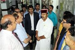 central minister inspected chamba medical college