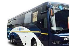 karnal will run volvo bus mineral water and news paper
