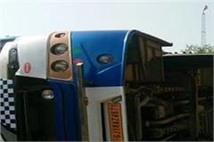 volvo bus reverses from shimla
