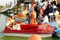cm yogi reached gorakhpur laid the foundation stone of the