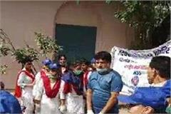 officers cleaned with 300 schoolchildren in faridabad