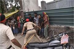 protesting youth falls from pole mob thrashes officials