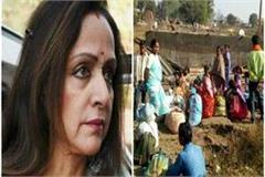 people forced to flee hema malini s parliamentary constituency