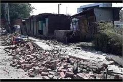40 year old shabby wall collapsed in panipat bus stand