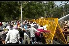 lathi charge and water canon on computer teacher and lab assistants in panchkula