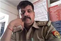 sub inspector comments on modi and yogi in facebook