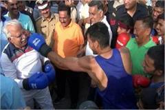 manohar lal khattar punch boxer