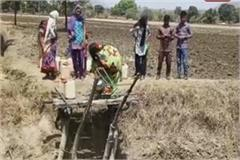 people of this village giving a challenge to death for one of water