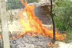 fierce fire in shabby wires