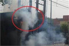 fire in transformer at sabji mandi sohna