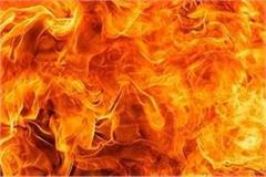 the property of lakhs of rupees and firewood in fire in farrukhabad