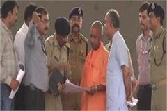 prior to pm modi s program yogi arrived at baghpat inspected the preparations