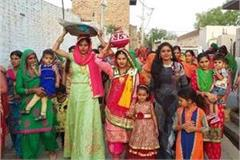 well puja on birth of a girl baby at sarpanch house
