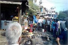 gas cylinder blast in shop 27 people injured