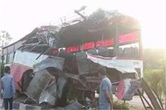 6 killed in bus and truck collision in bulandshahr