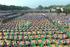 more than 1 lakh people have done yoga in pm s parliamentary constituency