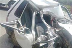 moradabad death of councilor s wife and son in law in road accidents