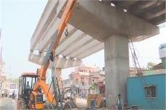 varanasi part of the bridge constructed on babetpur road dropped