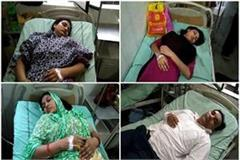 half a dozen victims of food poisoning