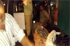 bulandshahr unknown vehicle hits family