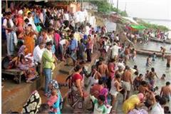 pooja worship of millions of pilgrims on ganga dussehra