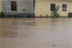 pre monsoon rain close road