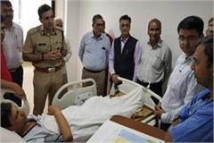 dc and police commissioner of gurugram to meet injured hr head
