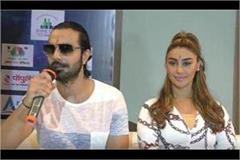 film actress mehak chahal mangangar manamit patel with trainer