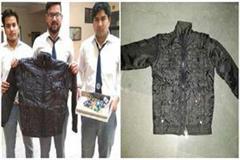 engineer students design women security jacket