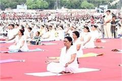 yoga gives opportunity to participate anandiben