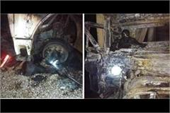 two drivers burnt alive in trucks terrible accident