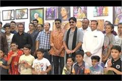 gangaajal fame yashpal sharma reached sirsa inaugurated painting exhibition